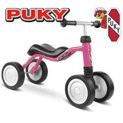 Tricicleta fara pedale fetite 18 -36 luni Puky Wutsch Pink
