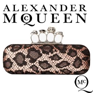 Geanta Clutch Alexander McQueen Knuckle Box