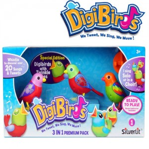Set 3 pasari cantatoare Digibirds