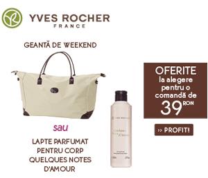 Geanta de weekend Yves Rocher cadou doar cumparand online