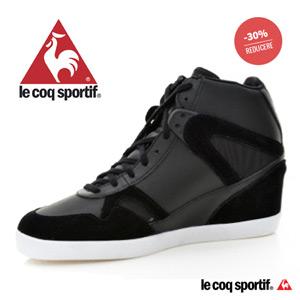 Pantofi sport cu platforma LE COQ SPORTIF pentru femei SEGUR ZEBRA (142042_5 NEGRU )