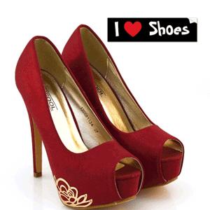Pantofi cu toc Ivona Rosu Burgundy
