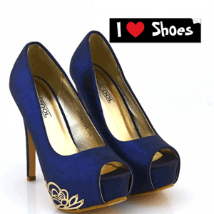 Pantofi cu toc Ivona albastru inchis