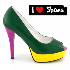 vezi in magazin Pantofi cu toc Nikita Verde Galben Fucsia