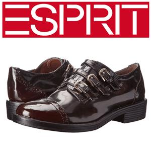 Pantofi casual din piele lacuita ESPRIT Napoles