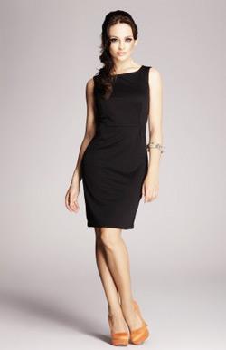 Rochie office eleganta culoare neagra usor cambrata