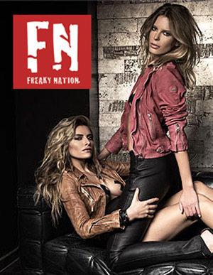 Clearance Freaky Nation Leather Women Biker Jackets Slim Fit