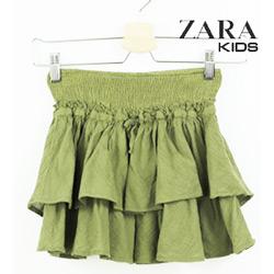 Fusta Zara Kids Kaki pentru fetite