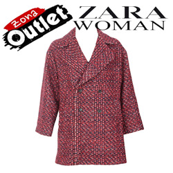 Jacheta tip palton Zara Pondo Dark Red