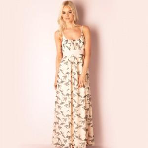 Rochie de vara lunga culoare roz