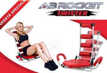 Aparatul de fitness pentru abdomene AB Rocket Twister