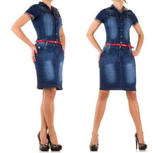 Rochie medie din Jeans