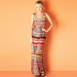 Rochie de vara multicolora vaporoasa