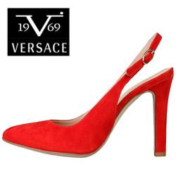 Pantofi dama Versace V1969 Edwige rosii