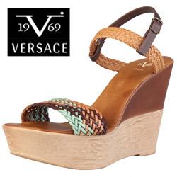 Sandale Versace V1969 Emily cu barete impletite