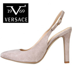 Pantofi Versace V1969 Edwidge din piele intoarsa