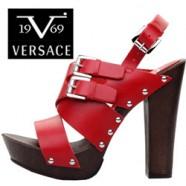 Pantofi si sandale de dama din piele naturala Versace V1969 Shoes