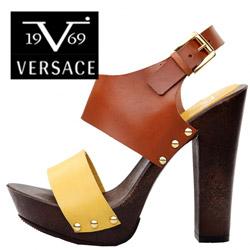 Sandale cu toc Versace V1969 Marica din piele naturala