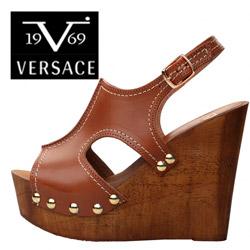 Sandale cu toc si tinte Versace V1969 Sveva
