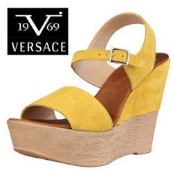 Sandale din piele Versace V1969 Jane