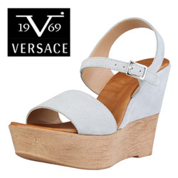 Sandale din piele Versace V1969 Jane Ghiaccio