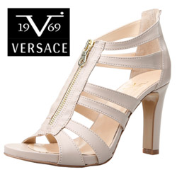Sandale romane Versace V1969 Thalie Nude din piele