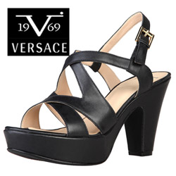 Sandale din piele Versace V1969 Camille