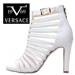 Sandale Versace V1969 Martine albe cu barete