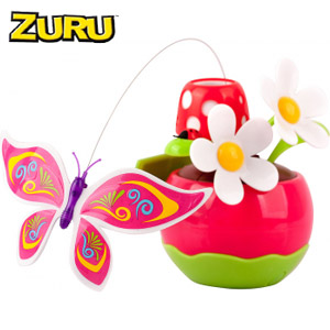 Fluturasii magici solari Zuru cu ghiveci roz la Nicoro