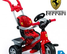 Tricicleta baieti Ferrari Feber cu ham si maner detasabil