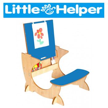 Birou cu scaun din lemn cu sevalet pentru copii ArtStation Little Helper