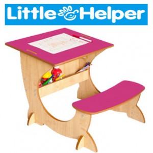 Birou din lemn Little Helper ArtStation 4 in 1 pentru copii