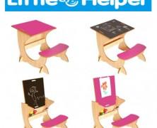Birouri cu scaun din lemn 4 in 1 pentru copii Little Helper Art-Station