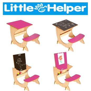 Birou din lemn cu sevalet Little Helper Art Station