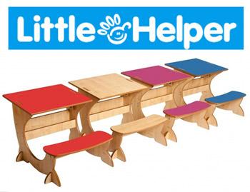 Birouri 4 in 1 din lemn Little Helper pentru copii