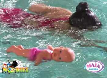 Papusa bebelus Maia care inoata de la Noriel