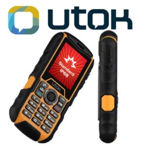 Telefon mobil model clasic UTOK Dorel 2 rezistent IP68