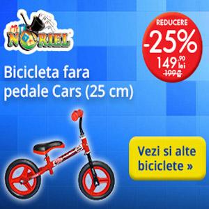 Reduceri de preturi la bicicletele pentru baieti 2-4 ani la Noriel