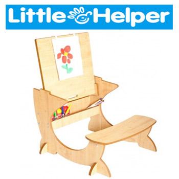 Sevalet Birou 4 in 1 Little Helper ArtStation pentru copii - fabricat din lemn