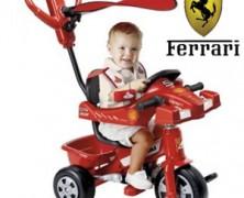 Tricicleta Ferrari pentru baieti cu varsta peste un an