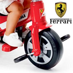 Tricicleta baieti Ferrari Feber rosie cu parasolar