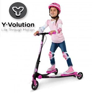 Trotinete fetite Yvolution Fliker actionabile prin balansare cu 3 roti