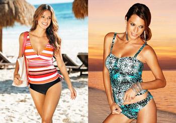 Cele mai frumoase costume de baie si plaja pentru femei Tankini