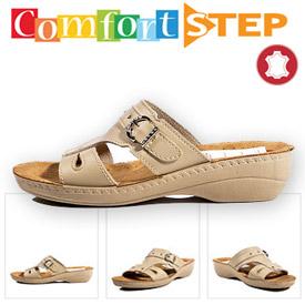 Comfort Step Papuci practici din piele ortopedici