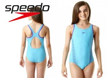 Costum de baie fete Monogram Muscleback Speedo