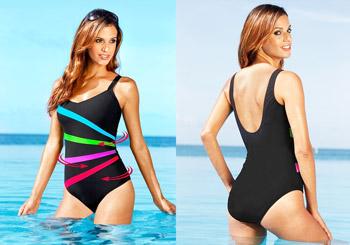 Costum de baie modern cu efect de modelare a corpului