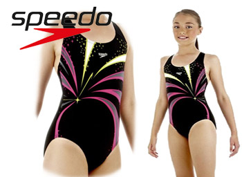 Costum de baie si inot SPEEDO fetite Turbosnap placement Splashback 6 8 10 ani