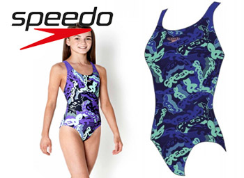 Costum de inot Allover Splash Back Speedo pentru fete