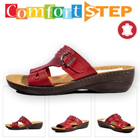 Papuci dama din piele ortopedici Comfort Step