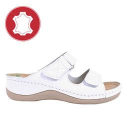 Papuci din piele cu gel LEON